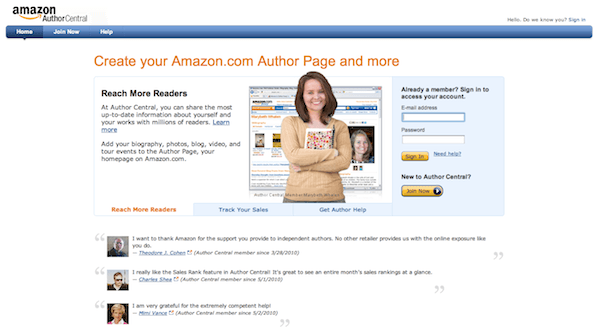 Author Central - how to become an amazon bestseller