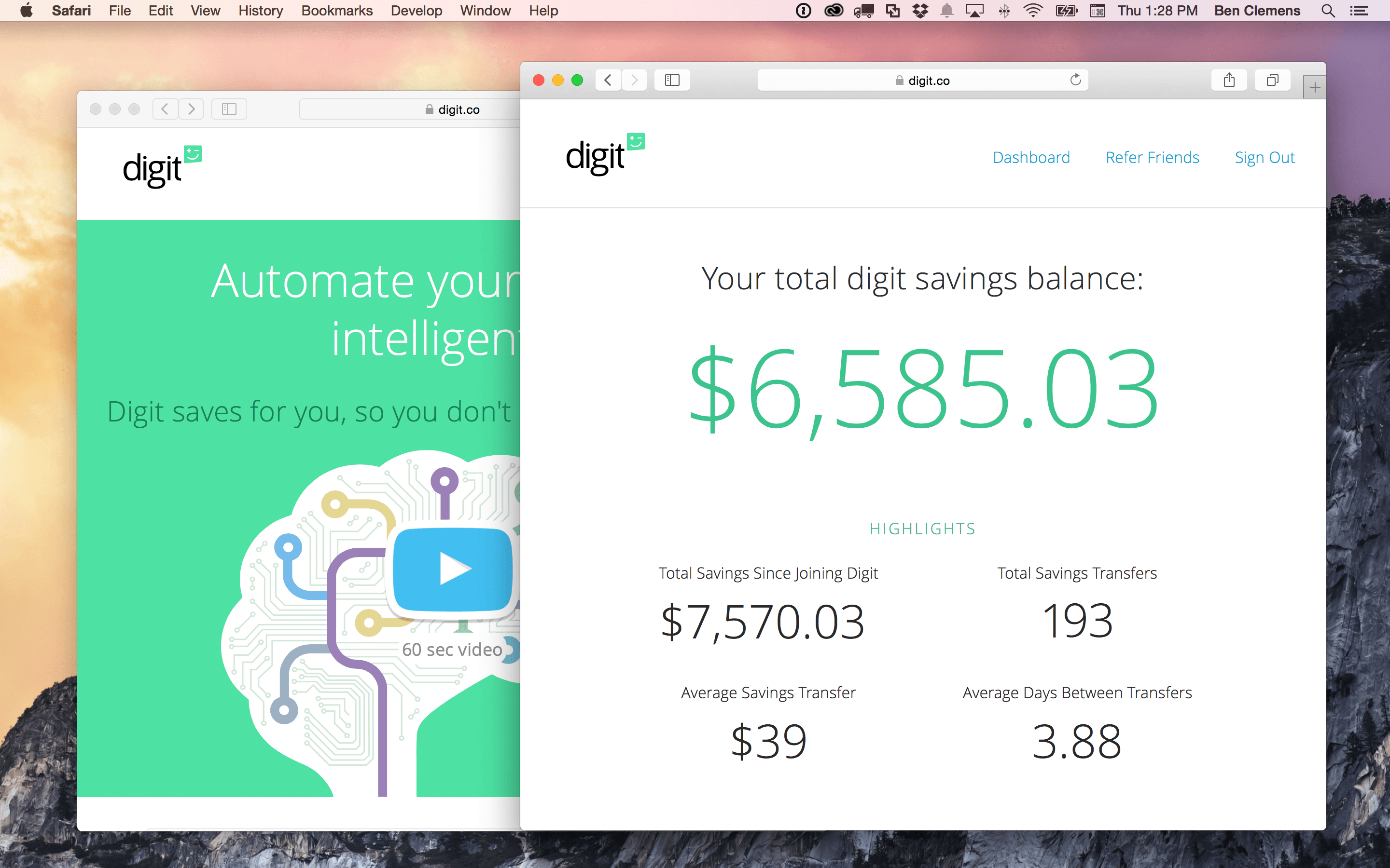 automated investing - digit