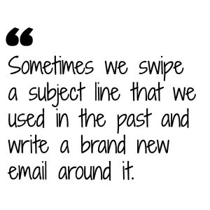 email opened - quote