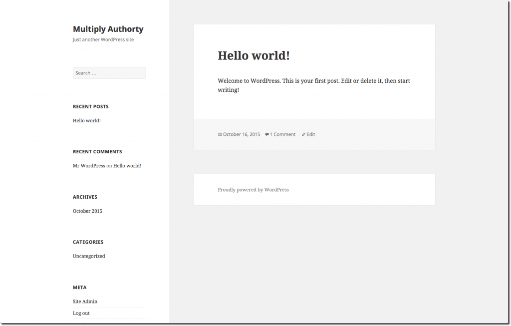 Authority Blog - Basic WordPress