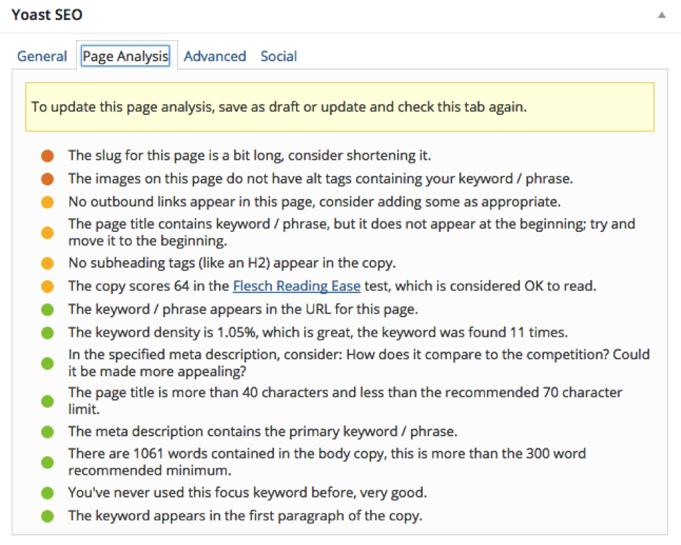 One Page SEO - Yoast Plugin