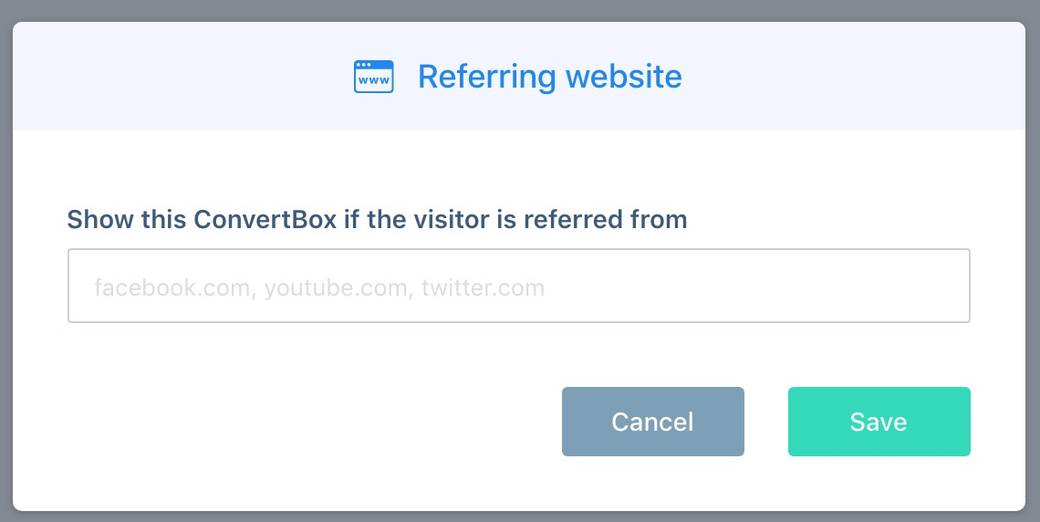 Convertbox - Referring Website